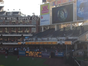 Left field at PETCO Park