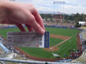 My seat at Dodger Stadium