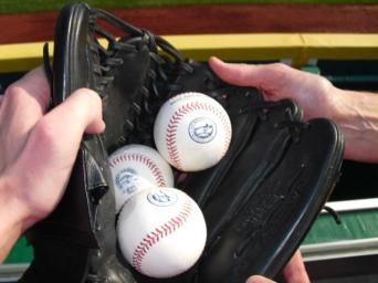 Commemorative balls at Nationals Park