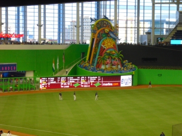 Marlins Park left center field