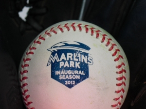 Marlins Park commemorative baseball