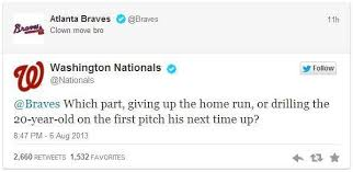 nationals braves twitter fight