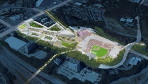 Braves new stadium aerial rendering