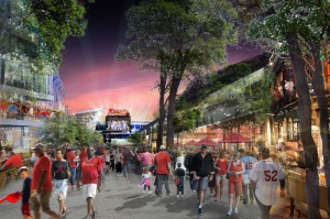 Braves new stadium outside rendering