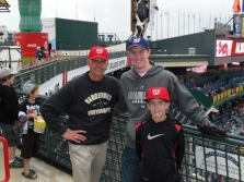 Steve with his dad and little brother Joe at Turner Field