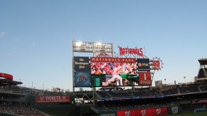 Nationals Park scoreboard