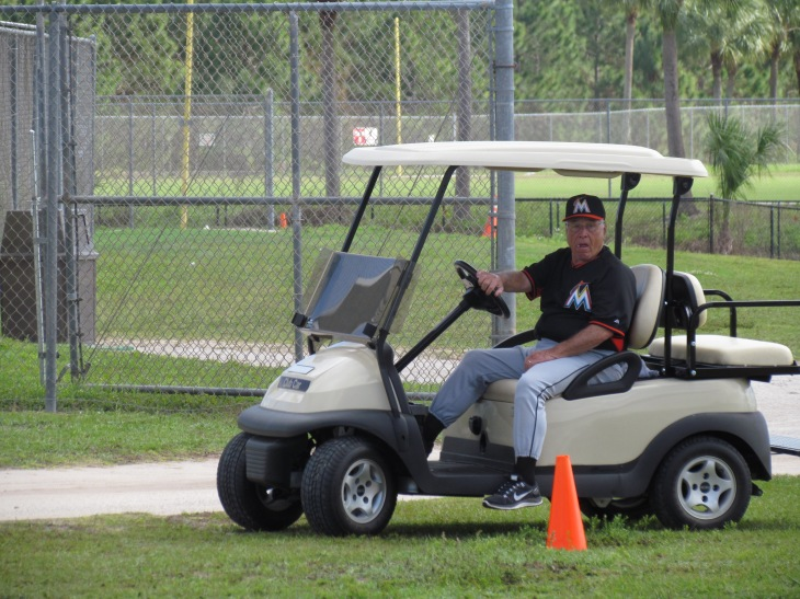 Jack McKeon golf cart
