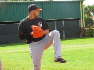 Jose Fernandez pitching
