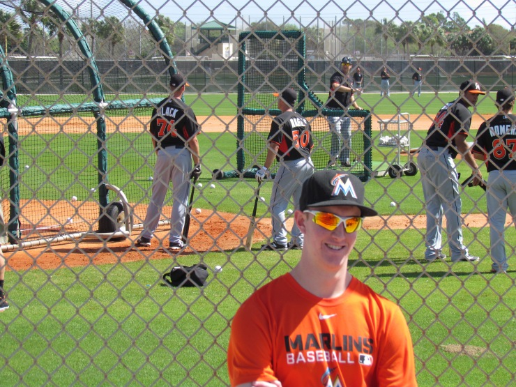 Me at Marlins practice fields