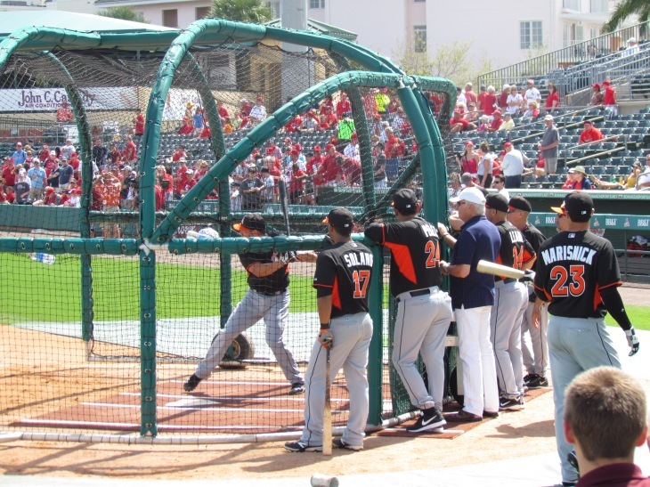 Marlins Batting Practice 3.7.14