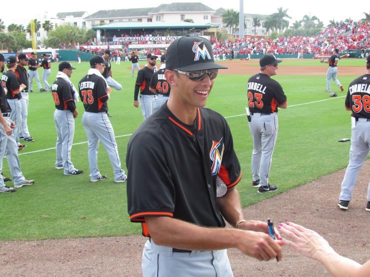 Steve Cishek signing autographs