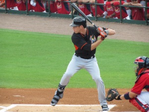 Christian Yelich batting