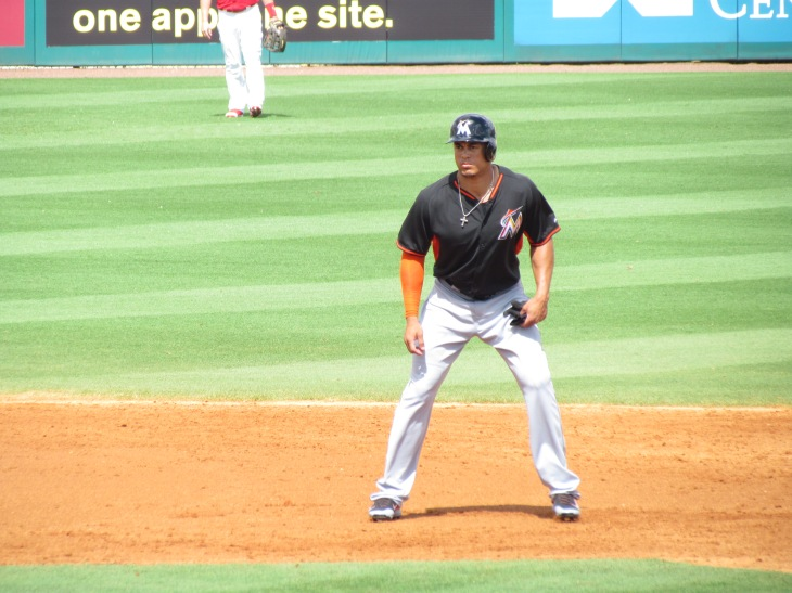 Giancarlo Stanton on base