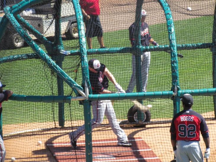 Braves Batting Practice