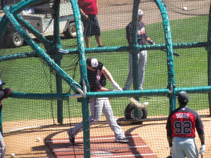 Braves Batting Practice
