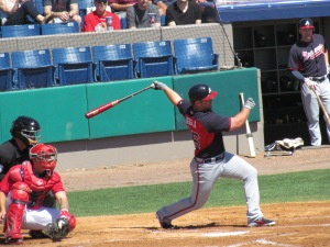 Dan Uggla batting at Space Coast Stadium