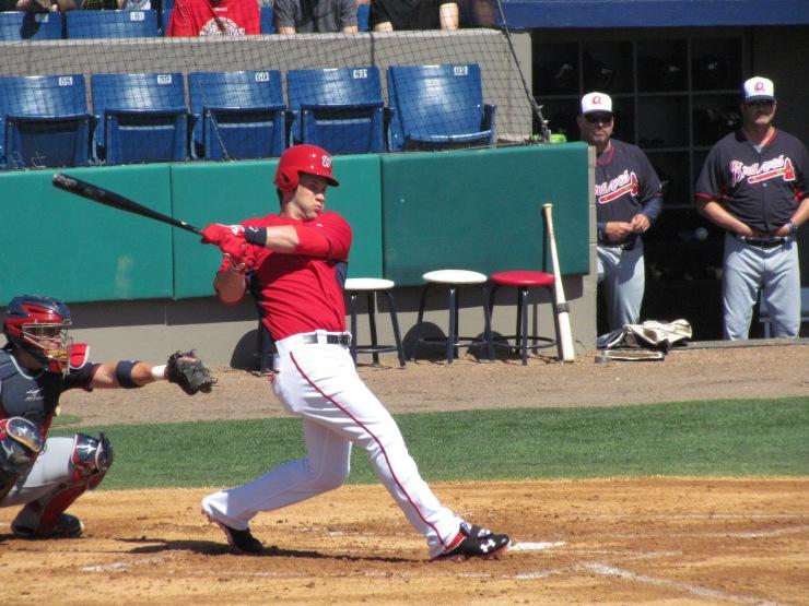 Bryce Harper hits a single