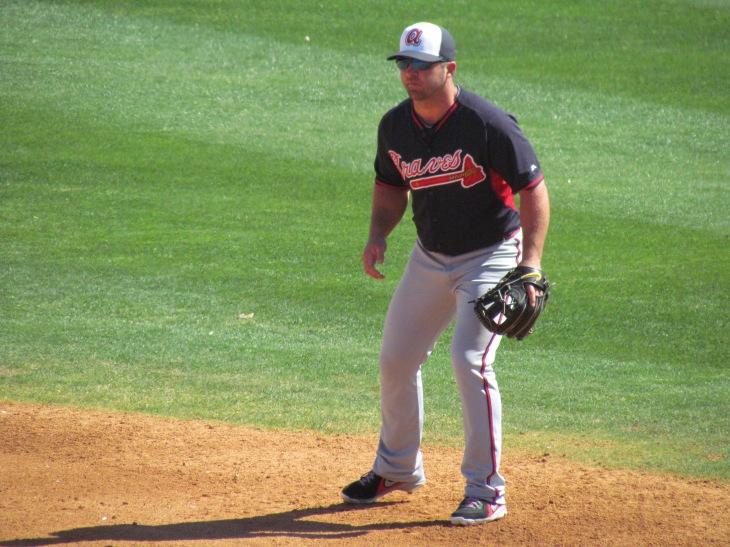 Dan Uggla at second base