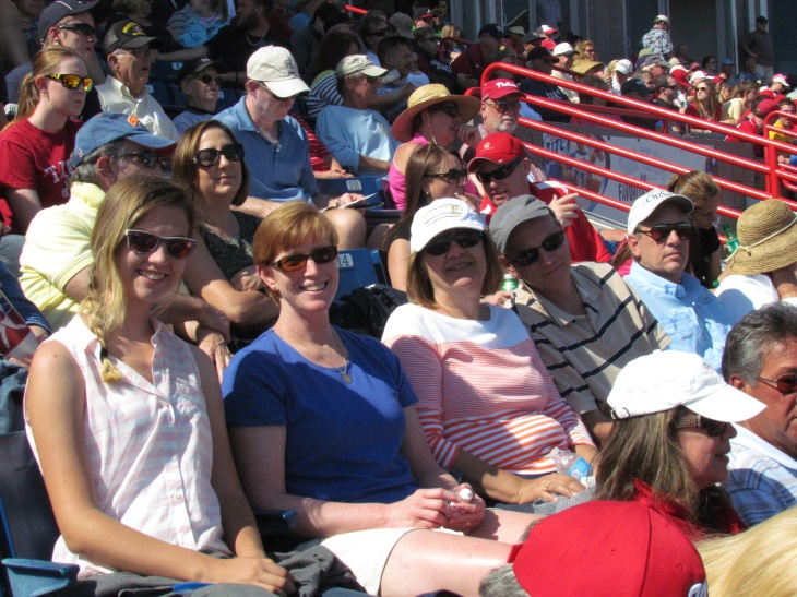 Family friends at the game