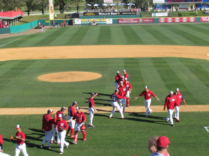 Nationals team following win