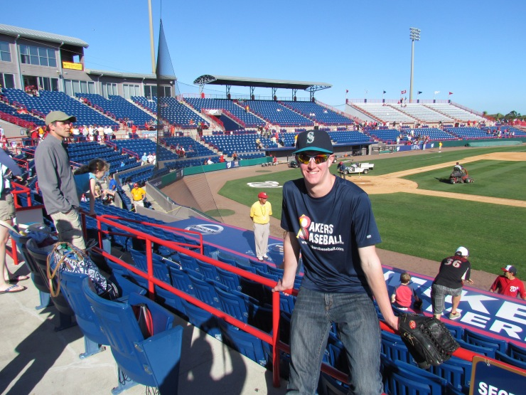 Me at Space Coast Stadium