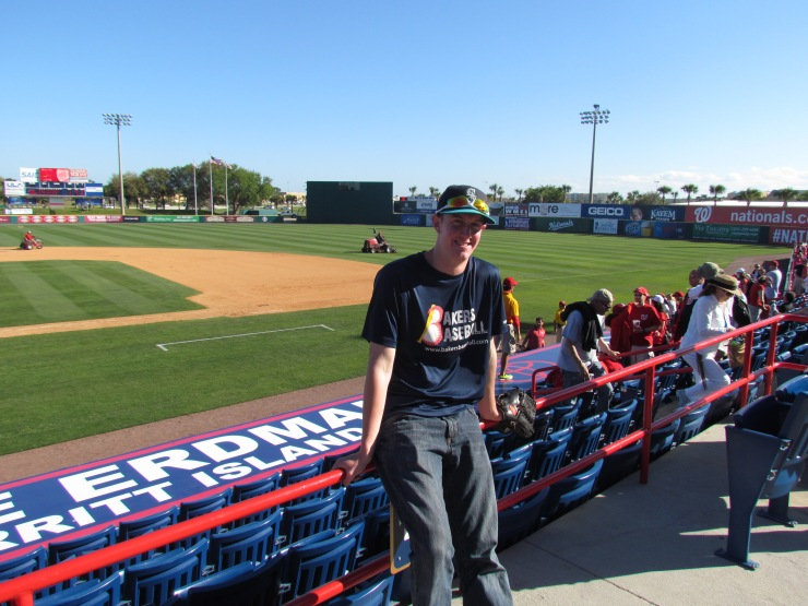 Me at Space Coast Stadium 2