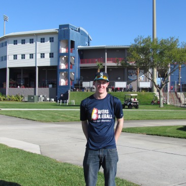 Me outside Space Coast Stadium