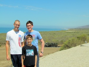 My brothers and I in Torrey Pines National Park 2012