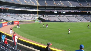 LF seats during Braves BP