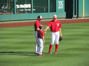 Strasburg with others during Nats BP