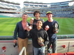 Andre, Ben, Jack, and me with our BP balls