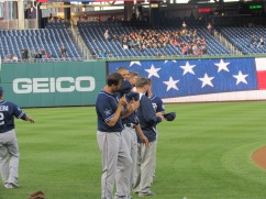 Padres guys lined up and laughing