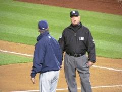 Bud Black arguing with Jim Joyce