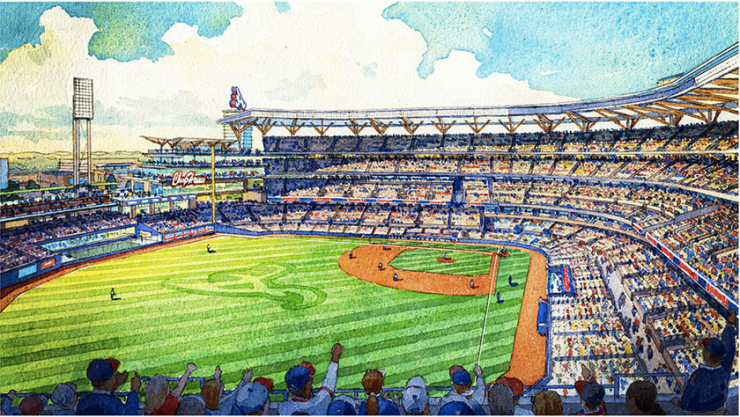 Braves new stadium interior