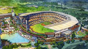 Braves new stadium overhead