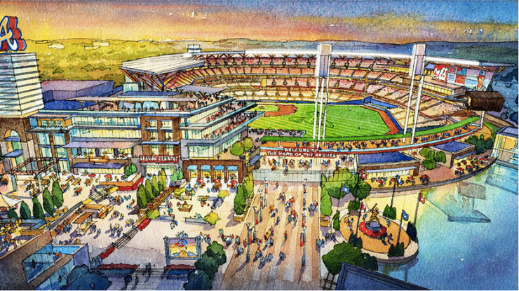 Braves new stadium plaza