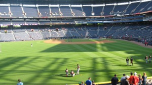 My view from the 200 level in left field