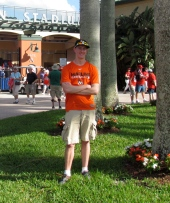 Me outside Roger Dean Stadium