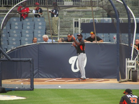 Ozuna taking BP