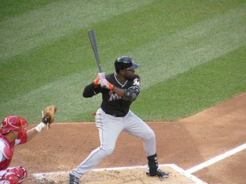Ozuna batting