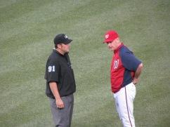 Matt Williams and umpire