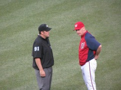 Matt Williams and umpire