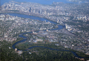 Boston from the air