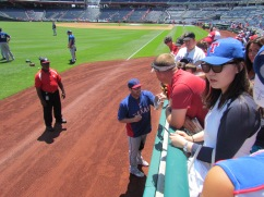 Colby Lewis signing autographs
