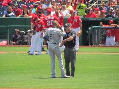 Alex Rios and umpire