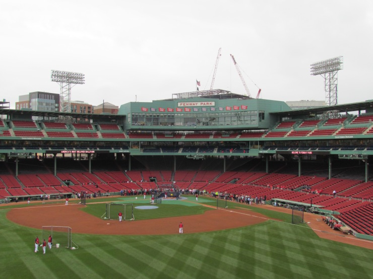 View from atop the Green Monster