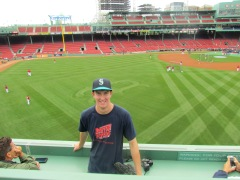 Me on the Green Monster