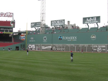 Outfield at Fenway Park