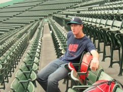 me at the red seat