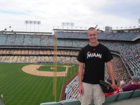 Steve at Dodger Stadium